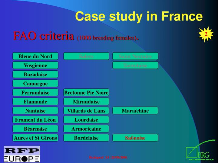 Case study in France