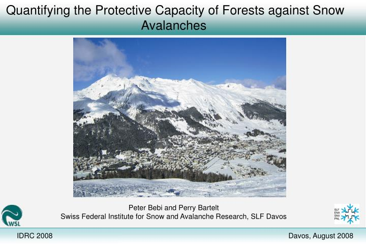 Quantifying the protective capacity of forests against snow avalanches