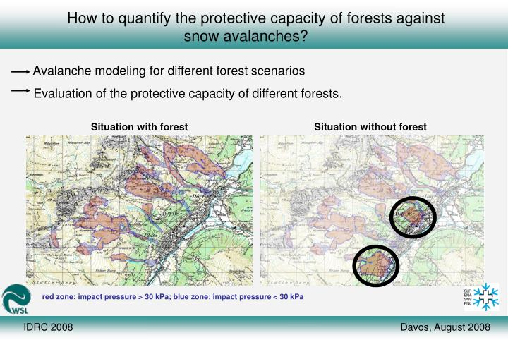 How to quantify the protective capacity of forests against