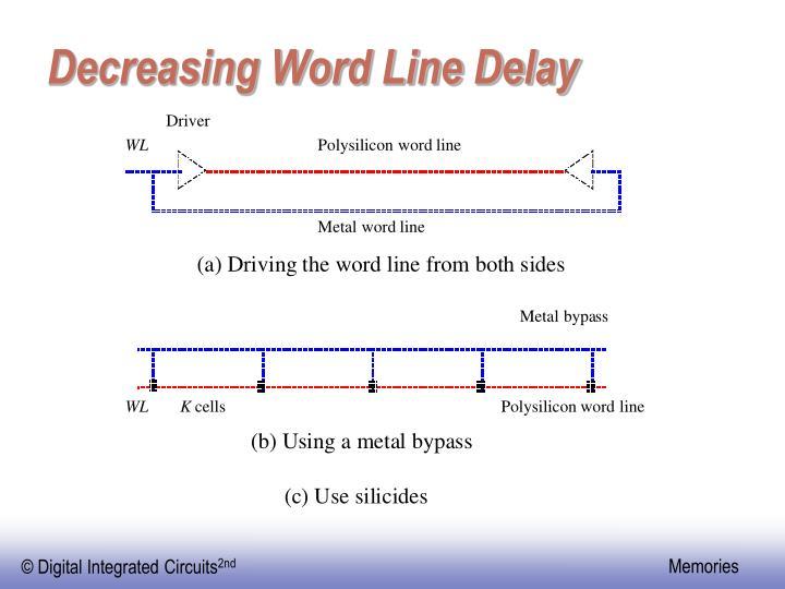 Decreasing Word Line Delay