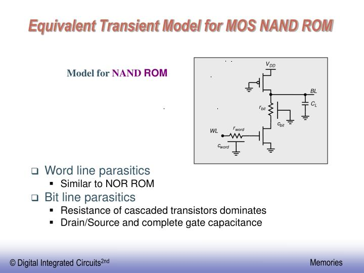Equivalent Transient Model for MOS NAND ROM