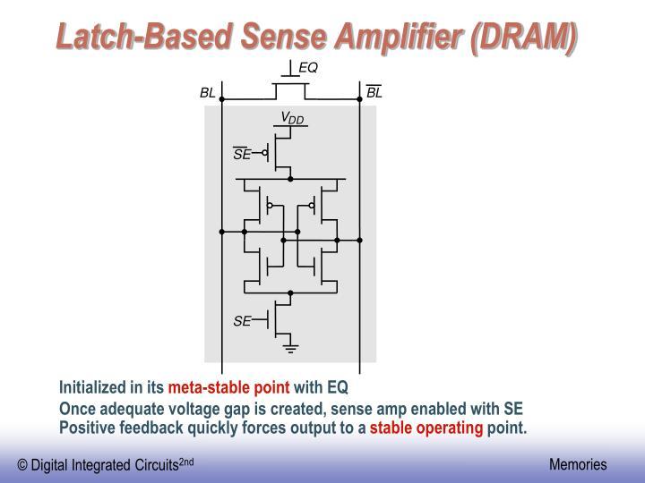 Latch-Based Sense Amplifier (DRAM)