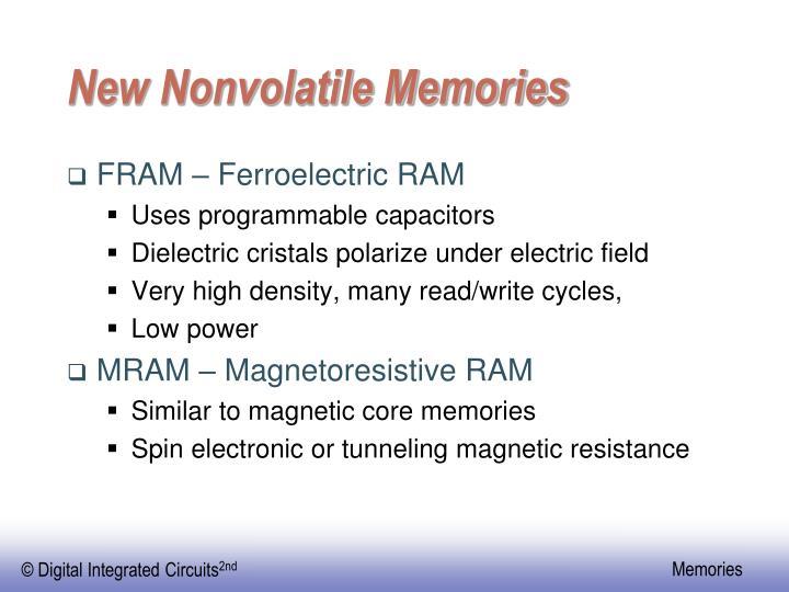 New Nonvolatile Memories