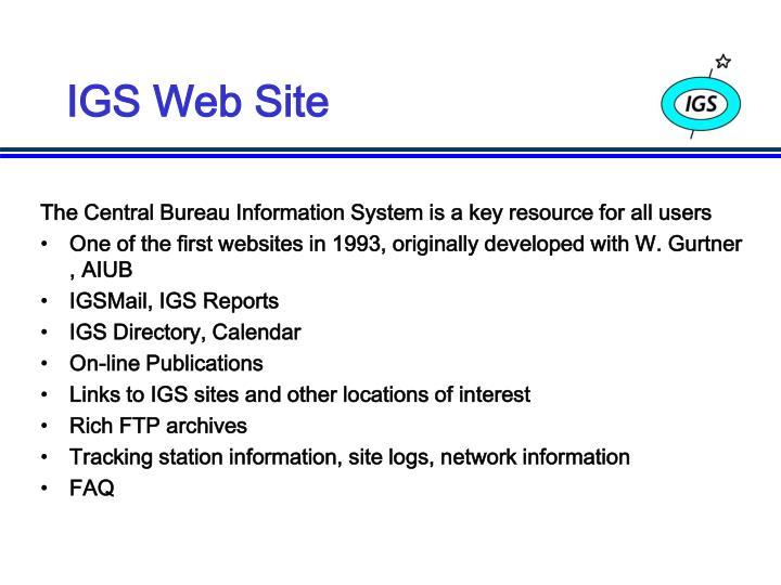 IGS Web Site
