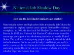 national job shadow day