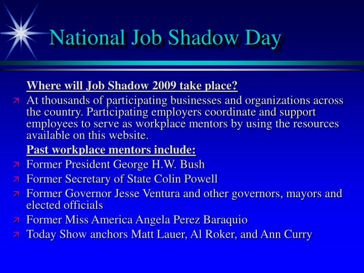 National Job Shadow Day