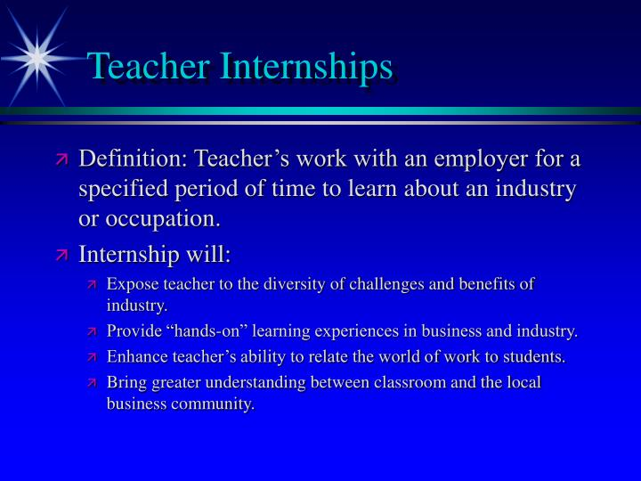Teacher Internships