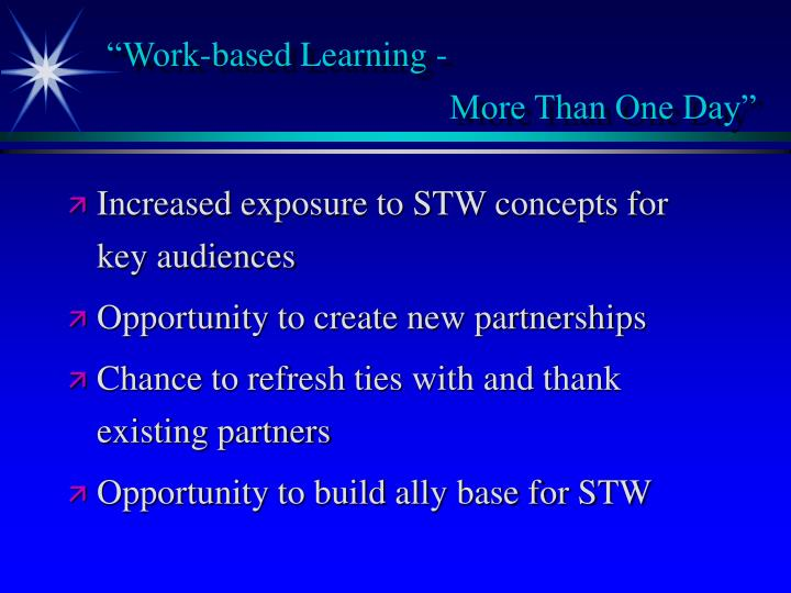 """Work-based Learning -"