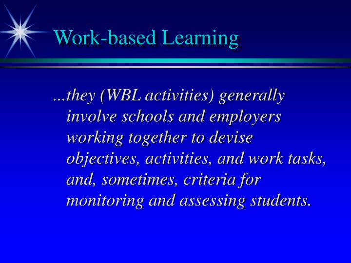 Work based learning1