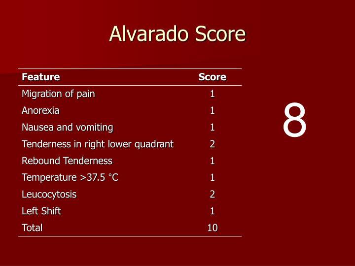 Alvarado Score