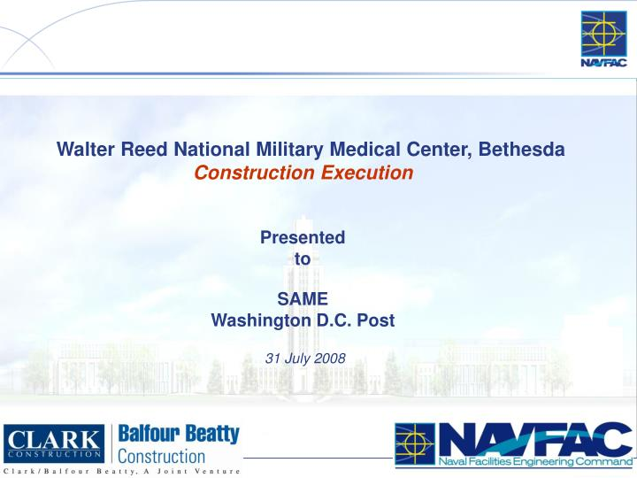 Walter Reed National Military Medical Center, Bethesda