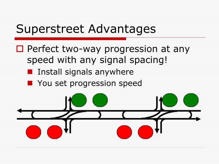 Superstreet Advantages