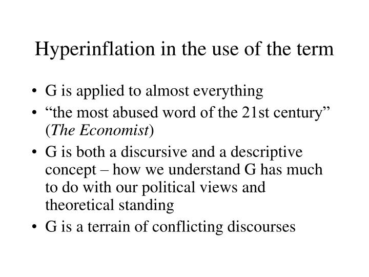 Hyperinflation in the use of the term