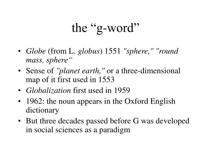 "the ""g-word"""
