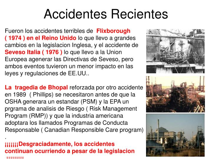 Accidentes Recientes