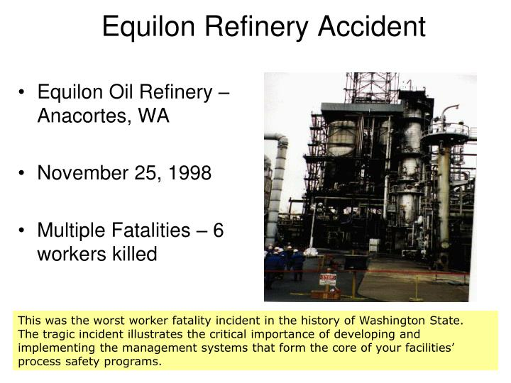 Equilon Refinery Accident