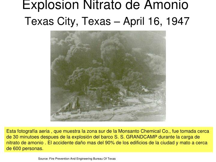 Explosion Nitrato de Amonio