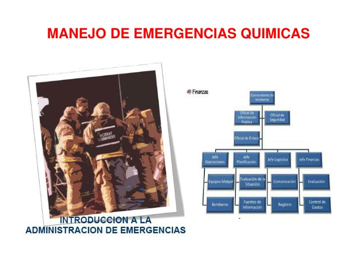 Manejo de emergencias quimicas