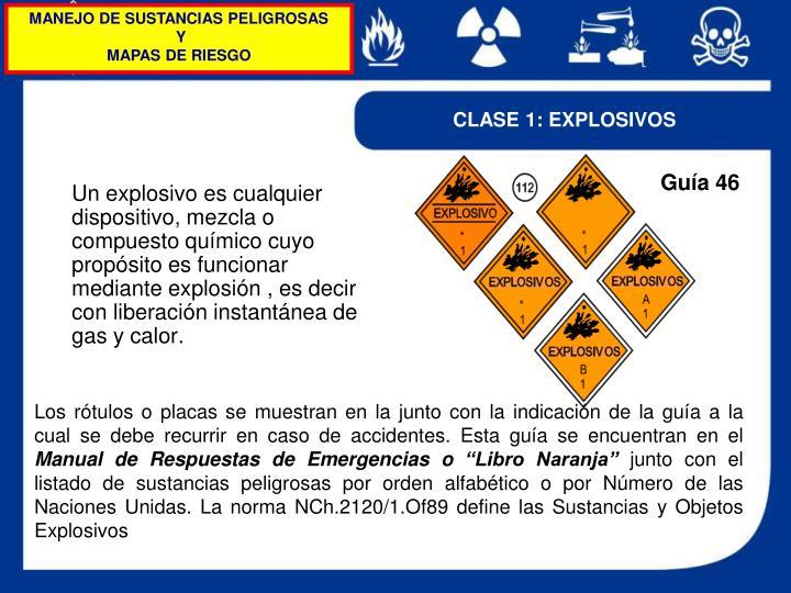 Un explosivo es cualquier dispositivo, mezcla o compuesto químico cuyo propósito es funcionar mediante explosión , es decir con liberación instantánea de gas y calor.