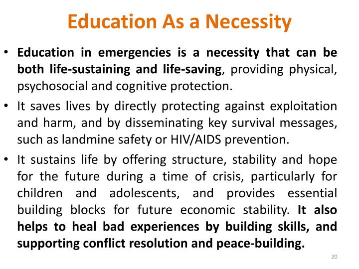 Education As a Necessity