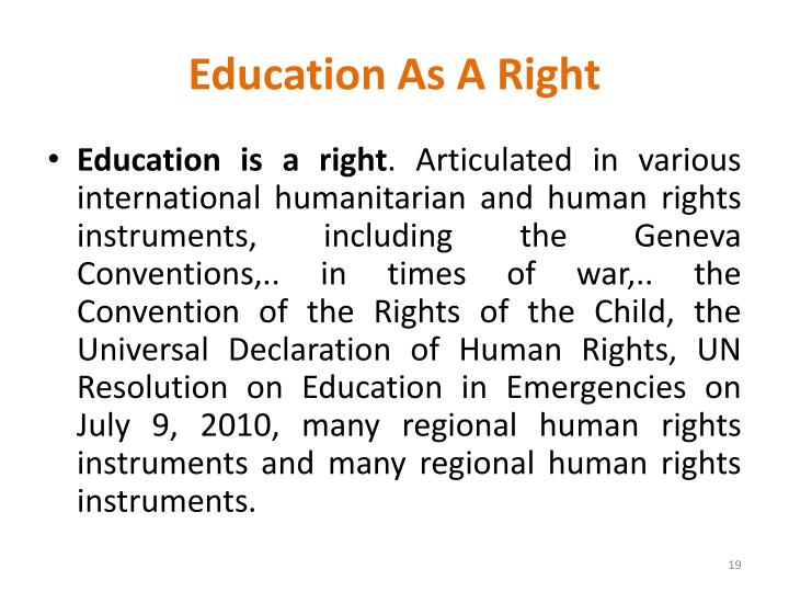 Education As A Right