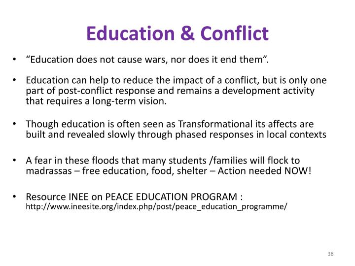 Education & Conflict