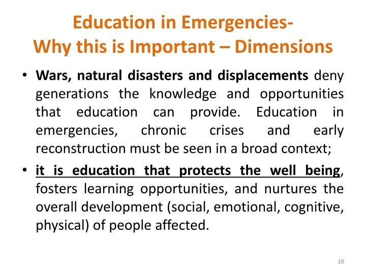 Education in Emergencies-