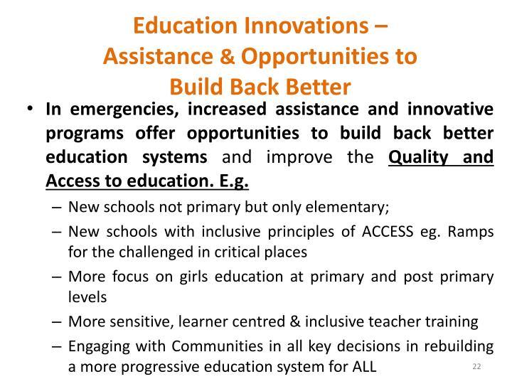 Education Innovations –