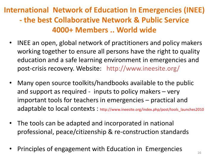 International  Network of Education In Emergencies (INEE)
