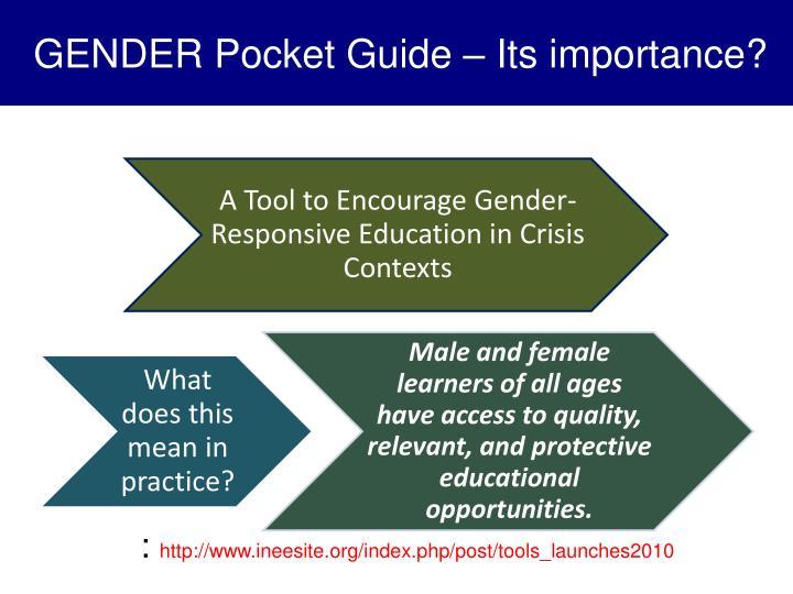 GENDER Pocket Guide – Its importance?