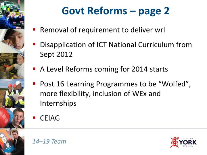 Govt Reforms – page 2