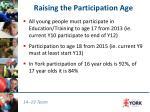 raising the participation age