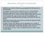 summary of events continued1