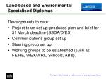 land based and environmental specialised diplomas