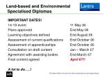 land based and environmental specialised diplomas1