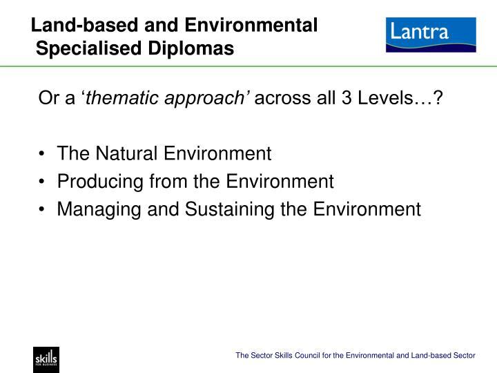 Land-based and Environmental