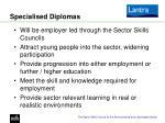 specialised diplomas