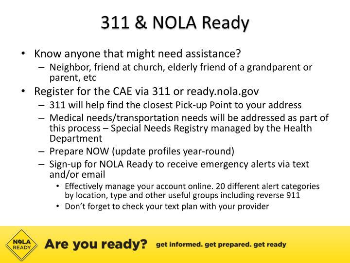 311 & NOLA Ready