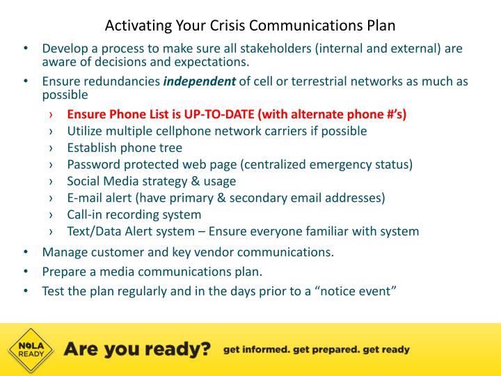 Activating Your Crisis Communications Plan
