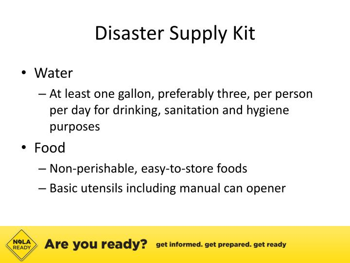 Disaster Supply Kit