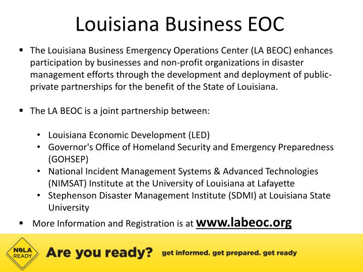 Louisiana Business EOC