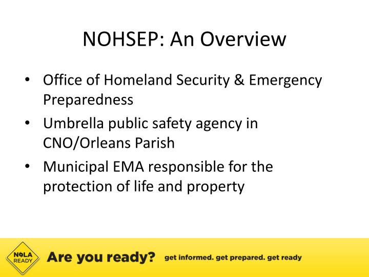 NOHSEP: An Overview