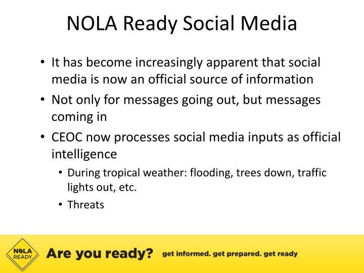 NOLA Ready Social Media
