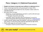 plans category 1 2 optional evacuation