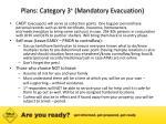 plans category 3 mandatory evacuation