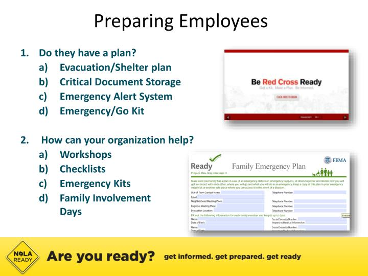 Preparing Employees