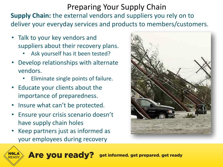 Preparing Your Supply Chain