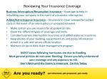 reviewing your insurance coverage