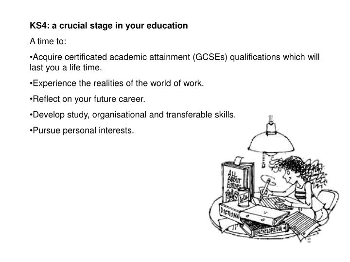 KS4: a crucial stage in your education