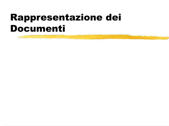 Rappresentazione dei Documenti